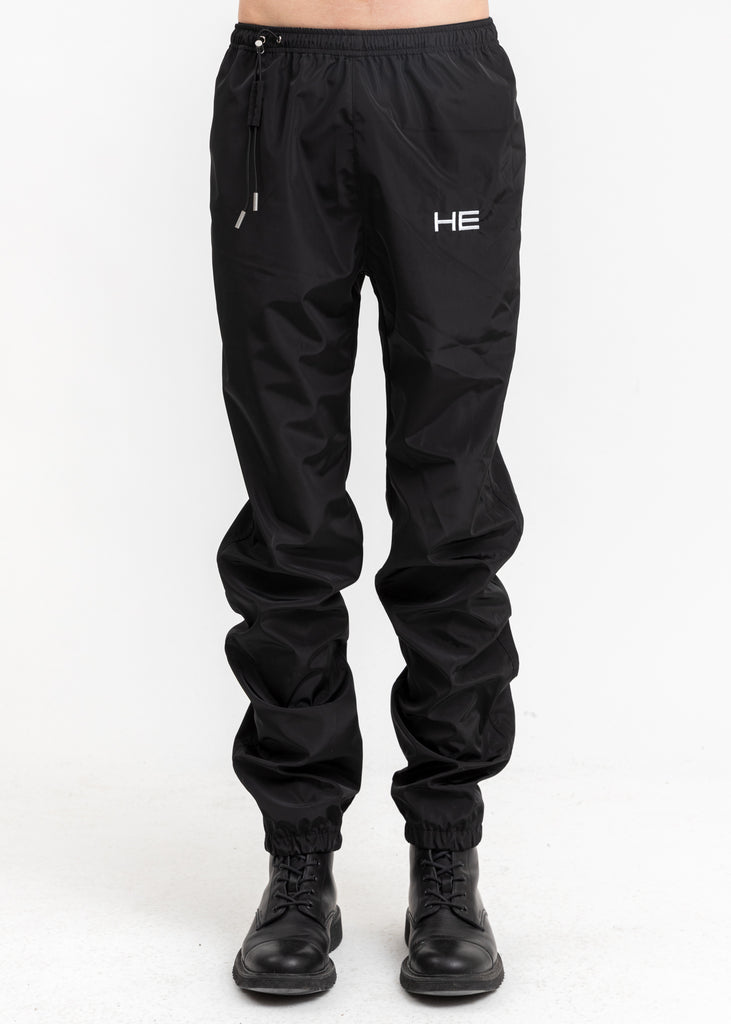 Black Track Pants w HE Logo