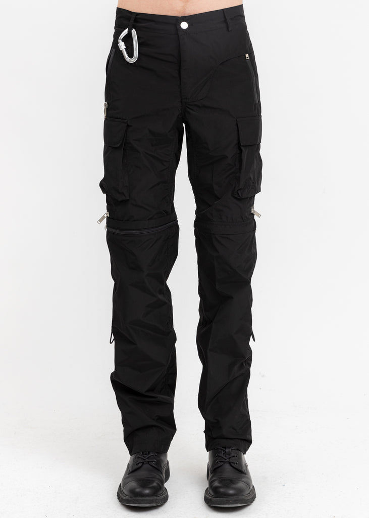 Black Zip Off Cargo Pants