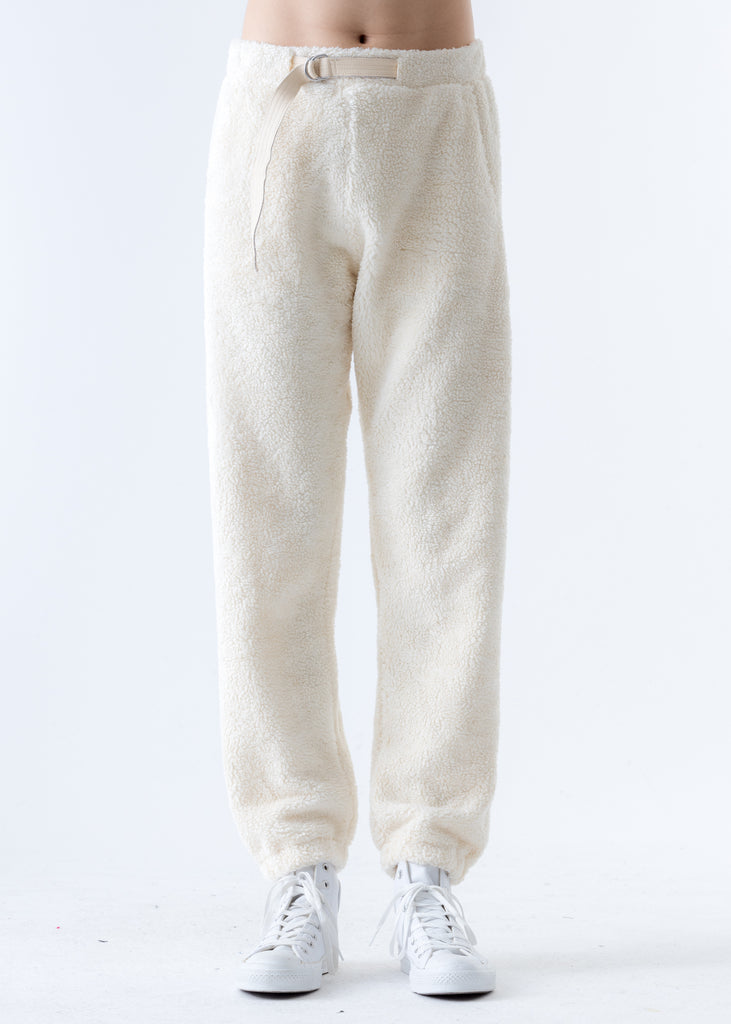 Beige Shaggy Fleece Sweatpants