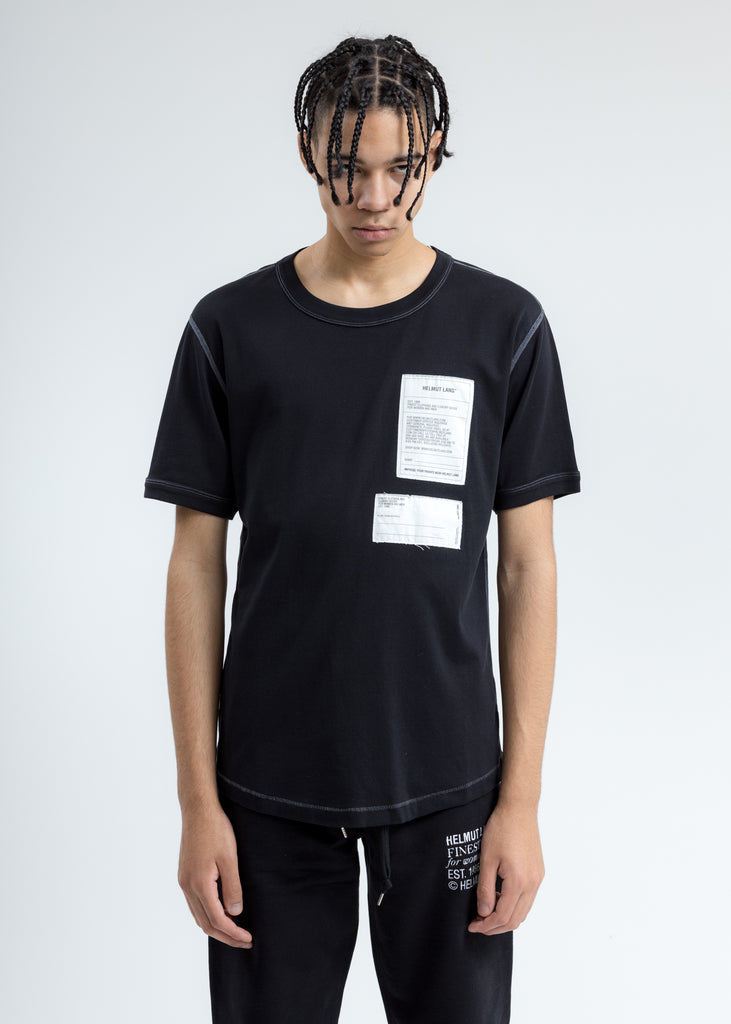 Black Base Layer Patch T-Shirt
