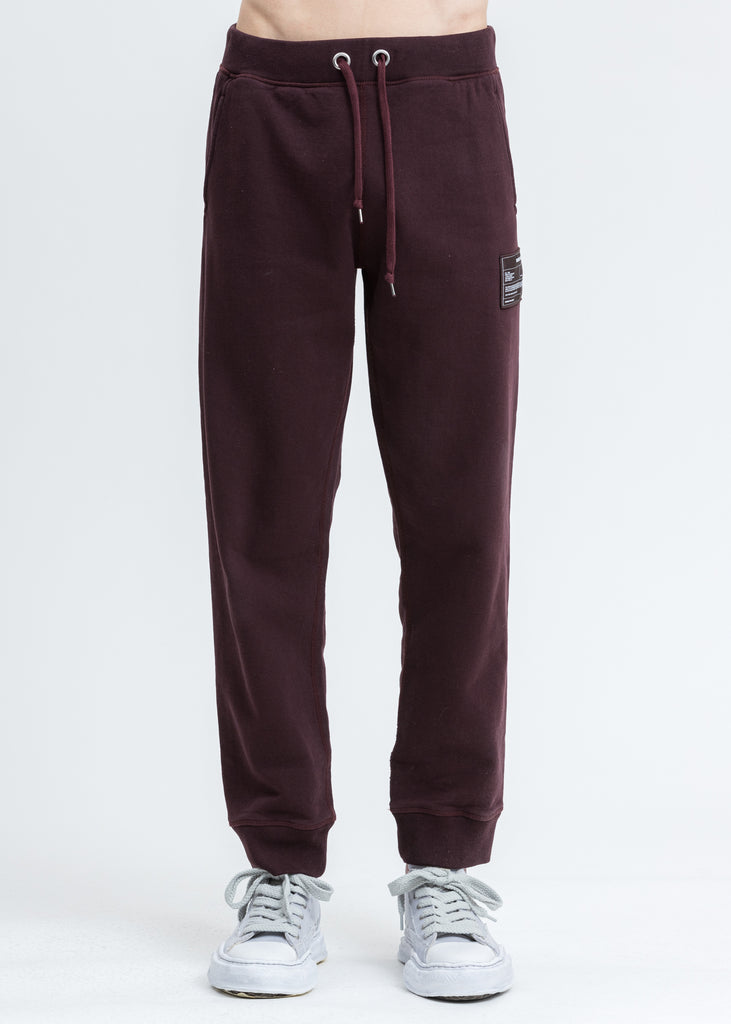 Crimson Red Patch Sweatpants
