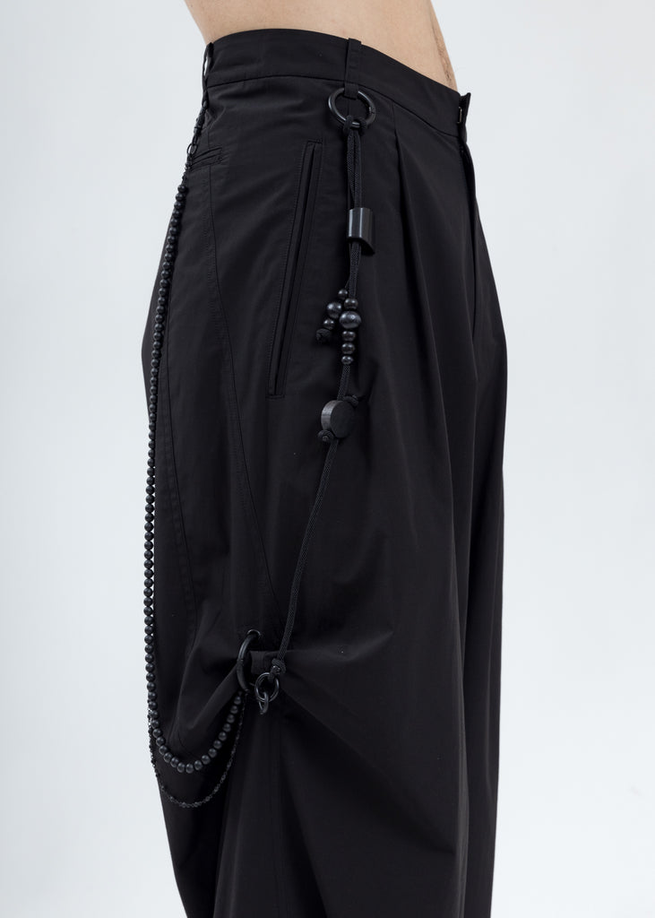 Black Chained Wide Pants