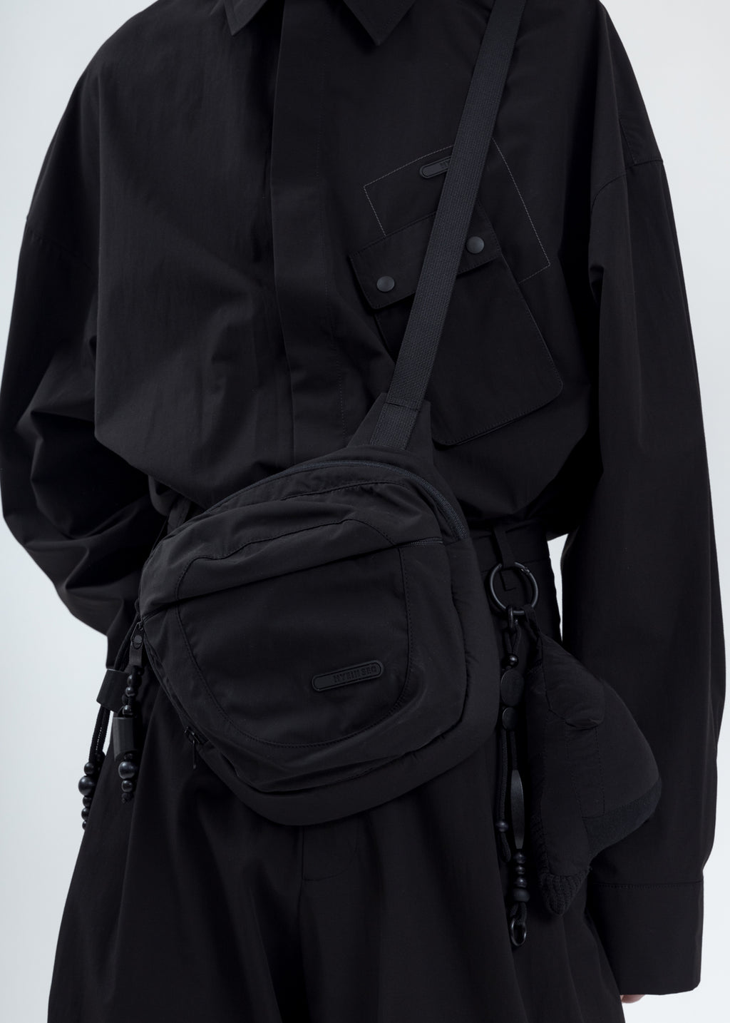 Black Logo Cross Bag