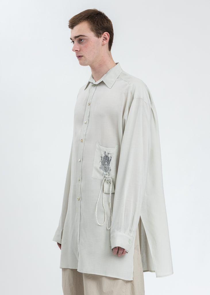 Green Oversized Palm Shirt