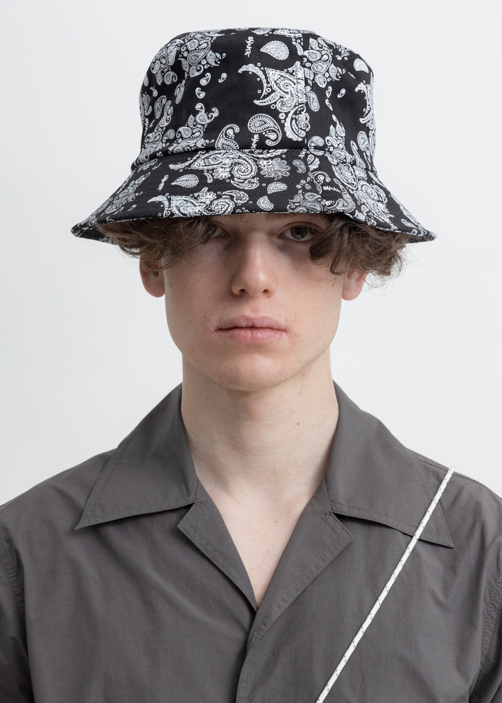 Black Bandana Bucket  Hat