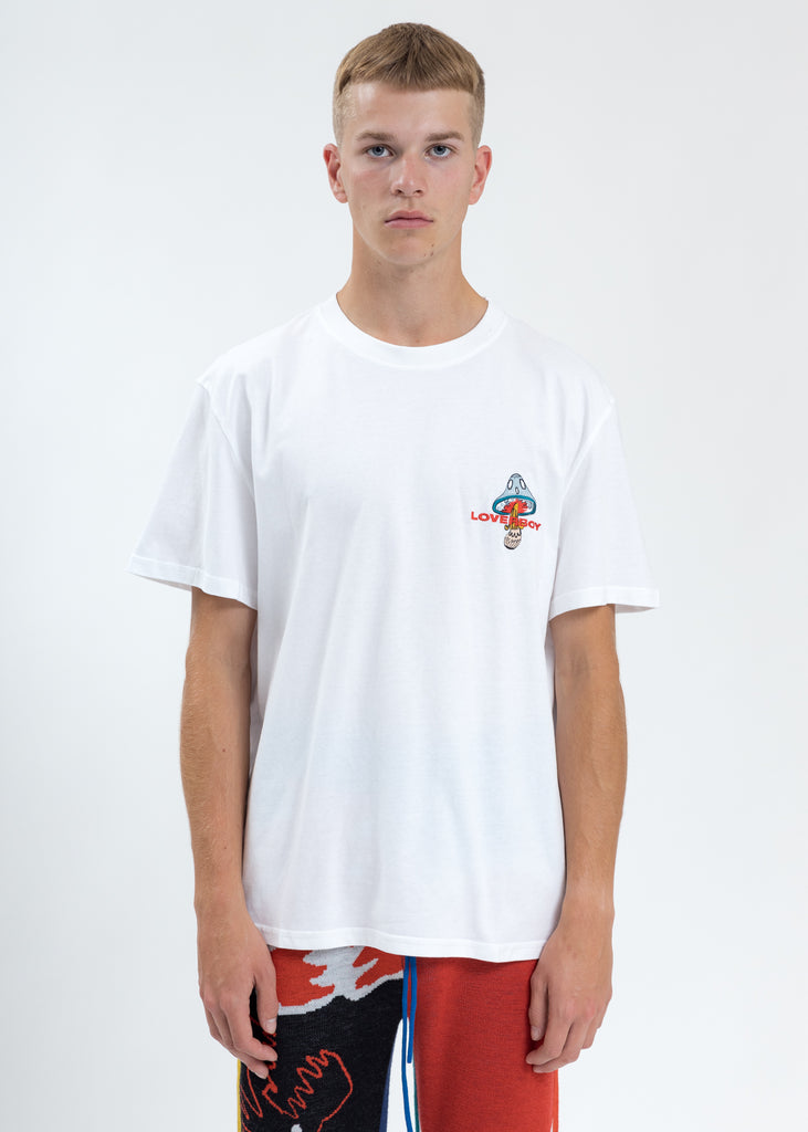 White Loverboy Art Gallery with Embroidery T-Shirt