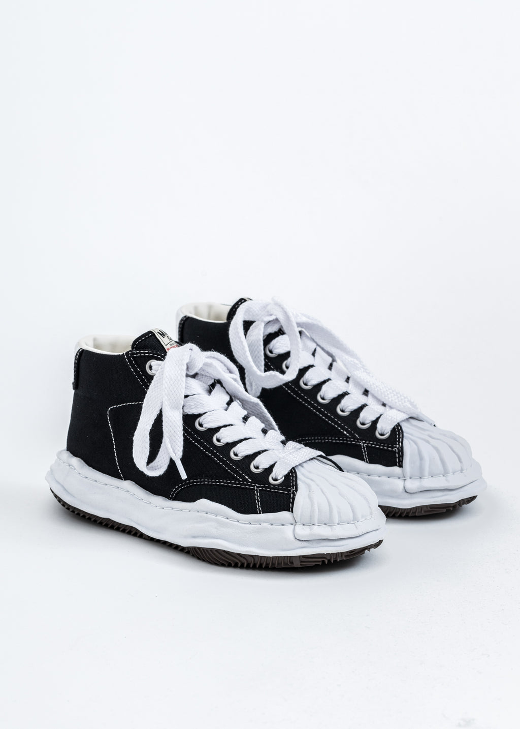 Black Original STC Sole Canvas Hitop Sneaker