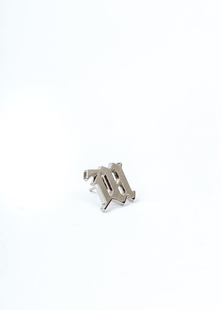 Silver M Earrings (Single)