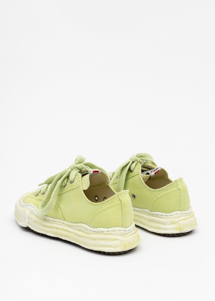 Green Original Sole Overdyed Canvas Sneaker (PETERSON LOW)