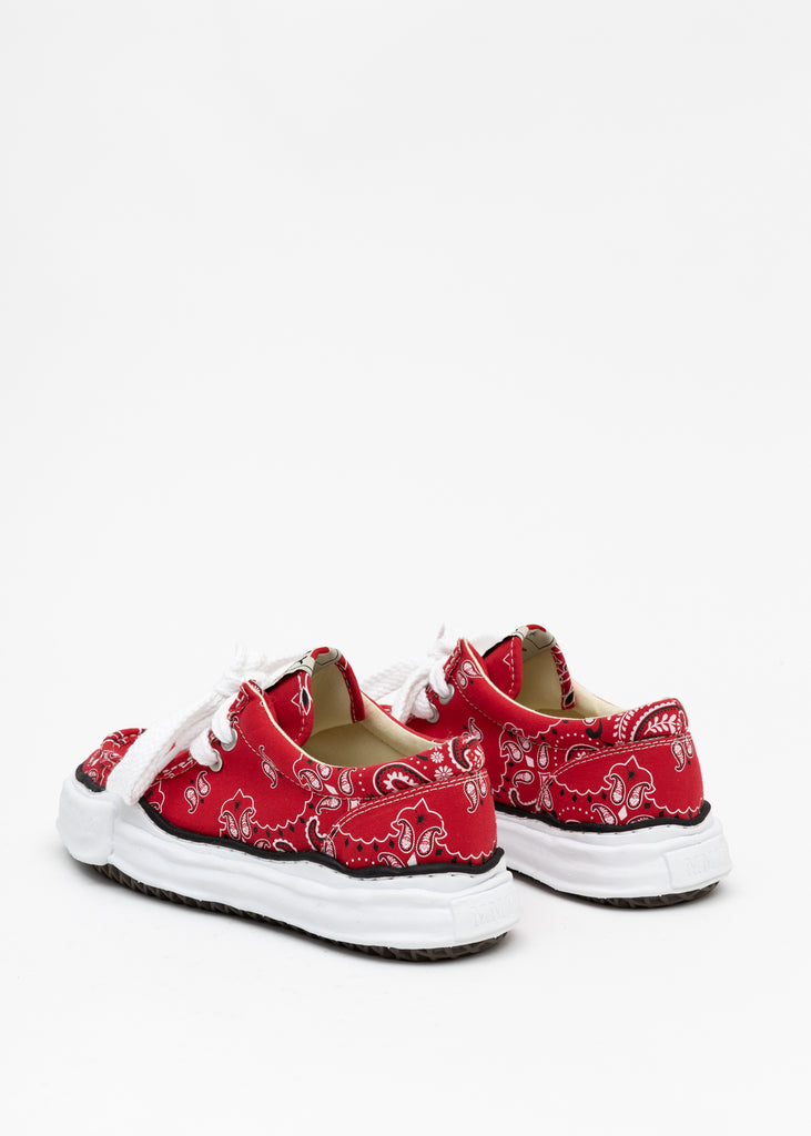 Red Original Sole Bandana Moccasin Sneaker