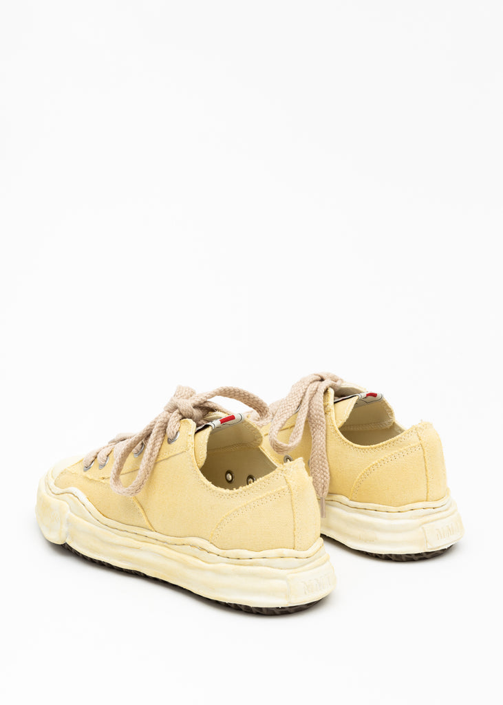 Beige Original Sole Overdyed Canvas Sneaker (PETERSON LOW)