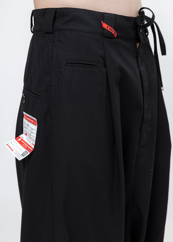 Black Over Sized Smooth Chino Pants