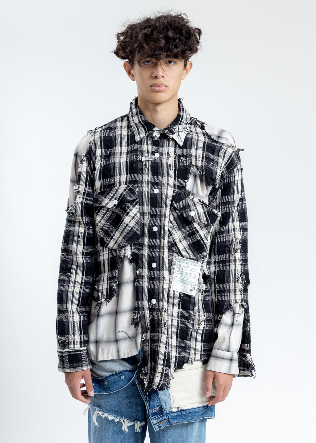 Black Broken Layer Shirt
