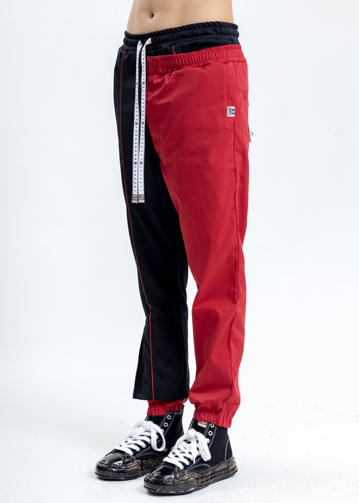 Black Combined Track Pants