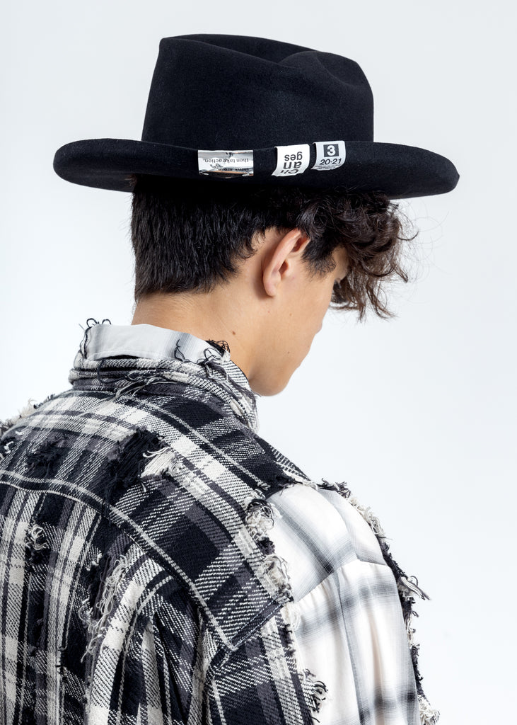 Black Multi-tag Hat