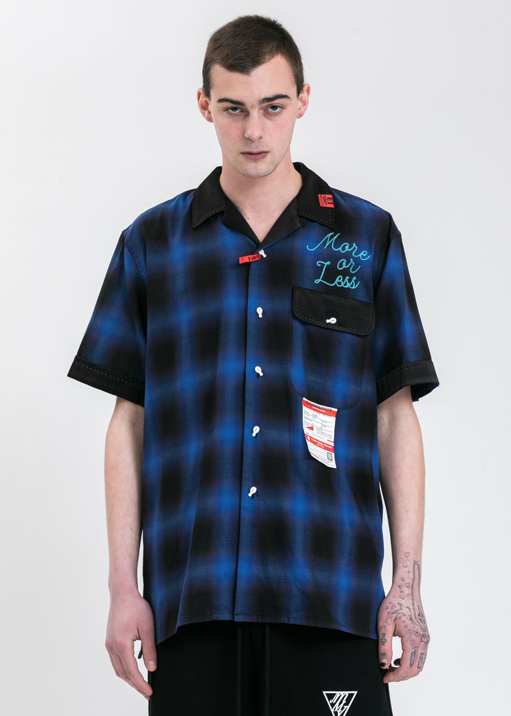 Blue Back T-Bowling Shirt