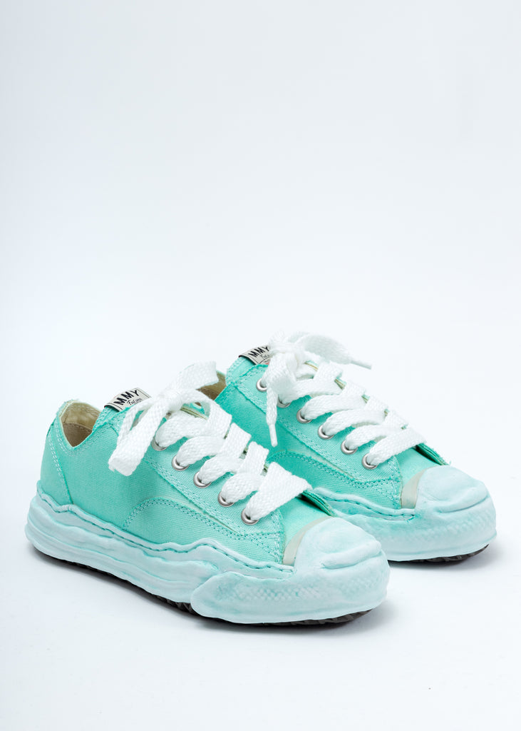Green Original Sole Toe Cap Low Cut Sneaker