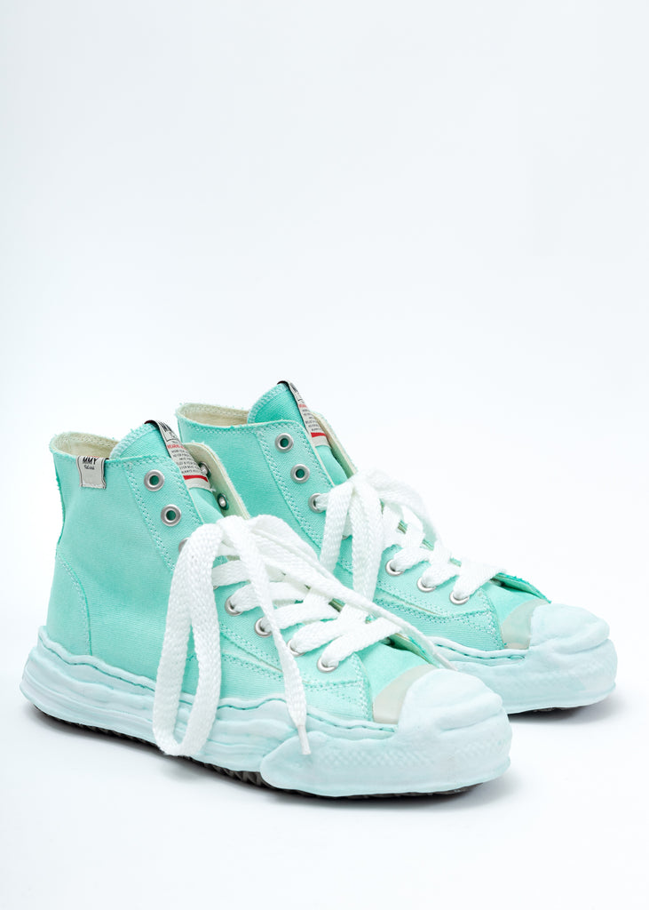 Green Overdyed Original Sole Toe Cap High Top Sneaker