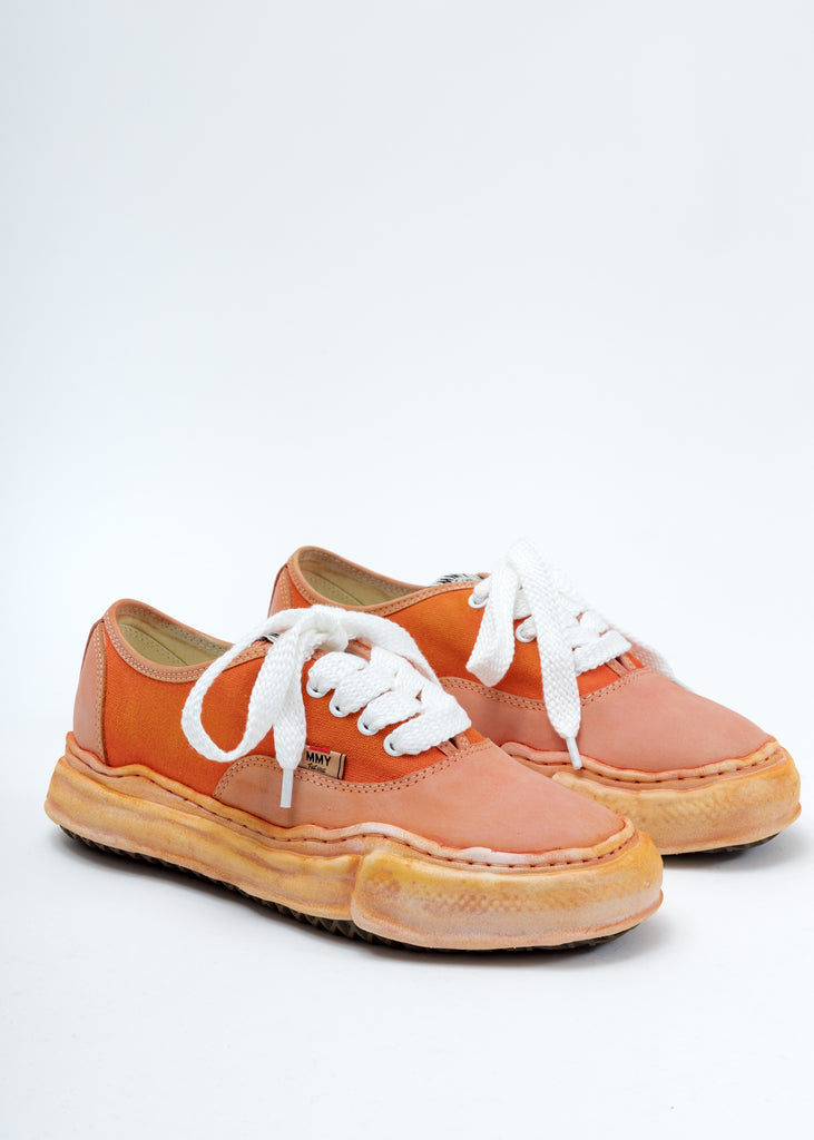 Orange Overdyed Original Sole Low Cut Sneaker