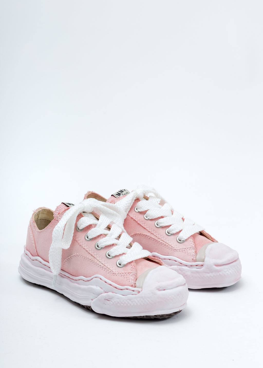 Pink Original Sole Toe Cap Low Cut Sneaker