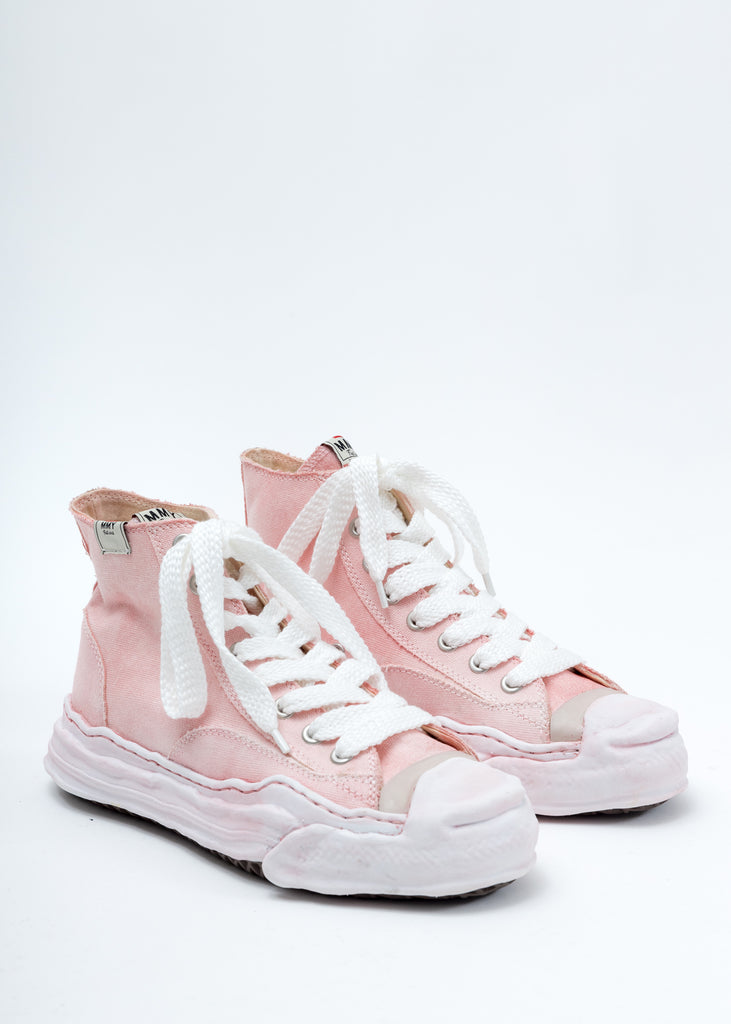 Pink Overdyed Original Sole Toe Cap High Top Sneaker