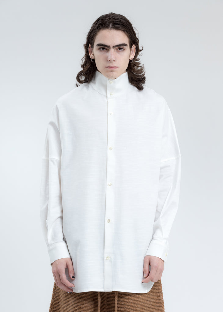White Adams Turtleneck Shirt