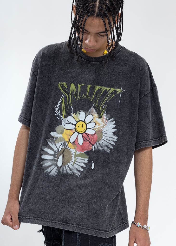 Grey Sunflower T-Shirt
