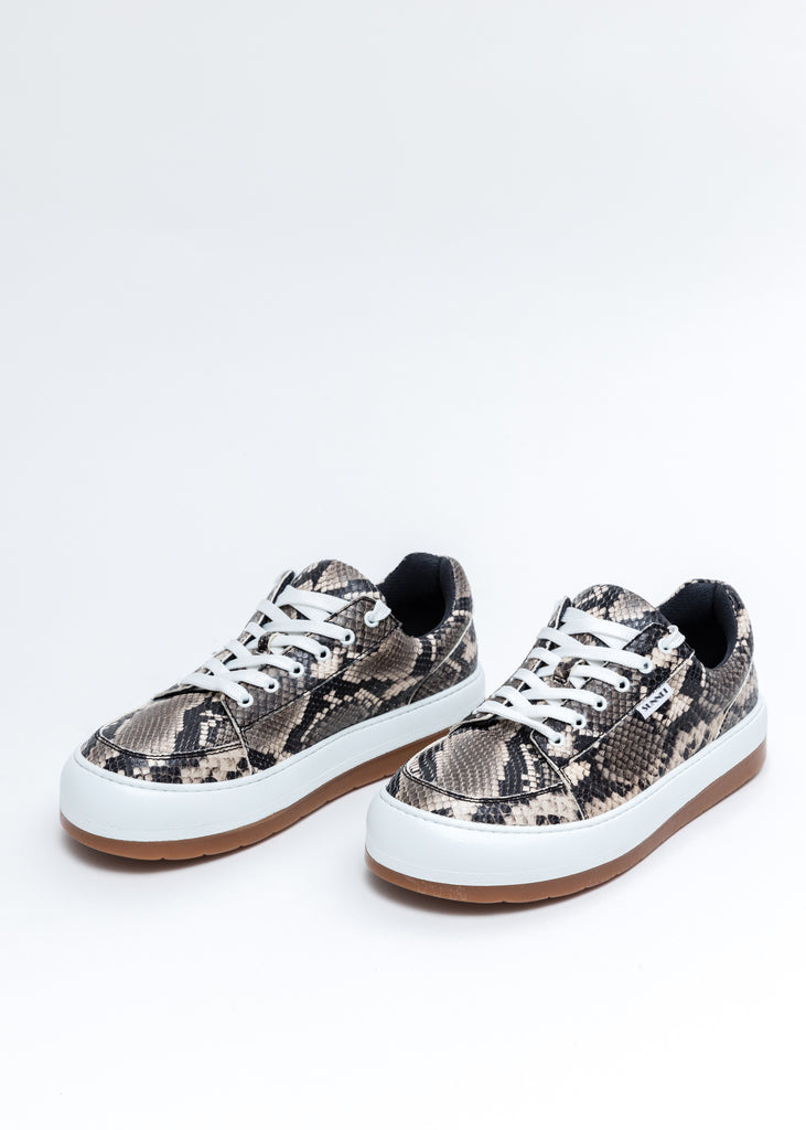 Python-Embossed Leather Dreamy Shoes