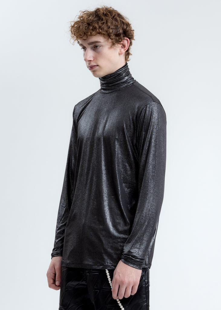 Black Glitter Turtleneck