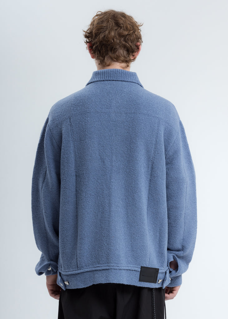 Blue Felted Knitted Jacket