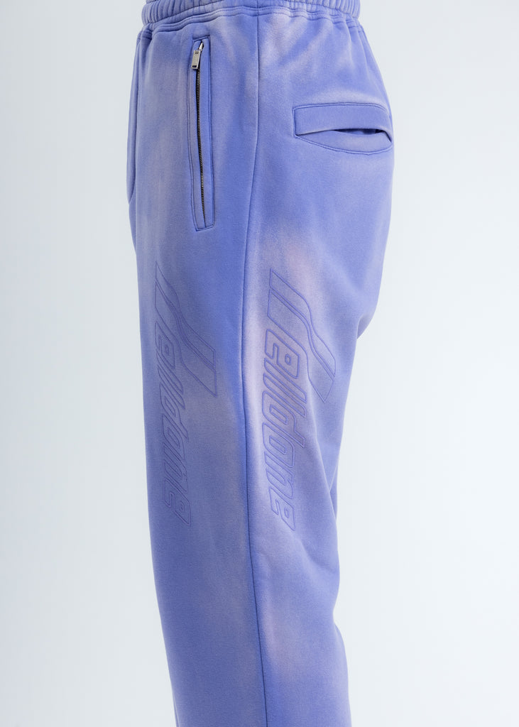 Purple Iridescent Hand-Bleached Zip Lounge Pants