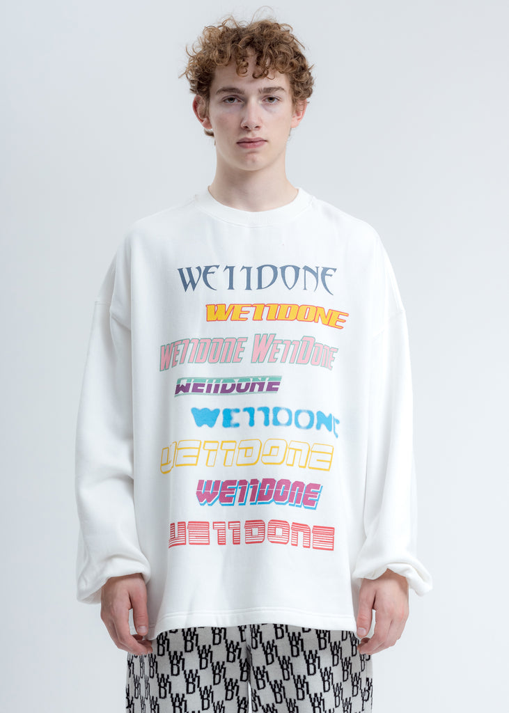 White Multi Logo Sweatshirt