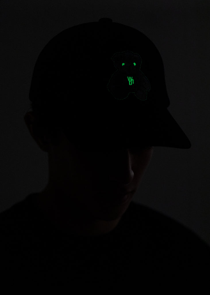 Black Glow In The Dark Teddy Cap