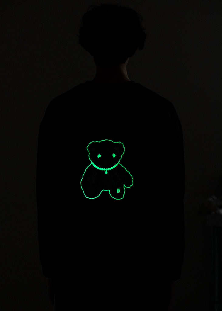 Black Glow In The Dark Teddy Long Sleeve