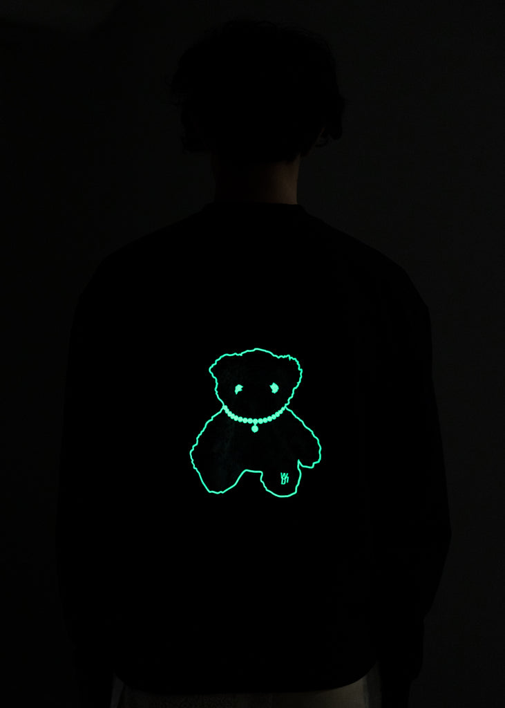 Black Glow In The Dark Teddy Sweater