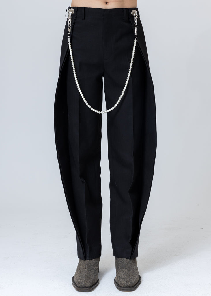 Black Pearl Chain Baggy Trouser