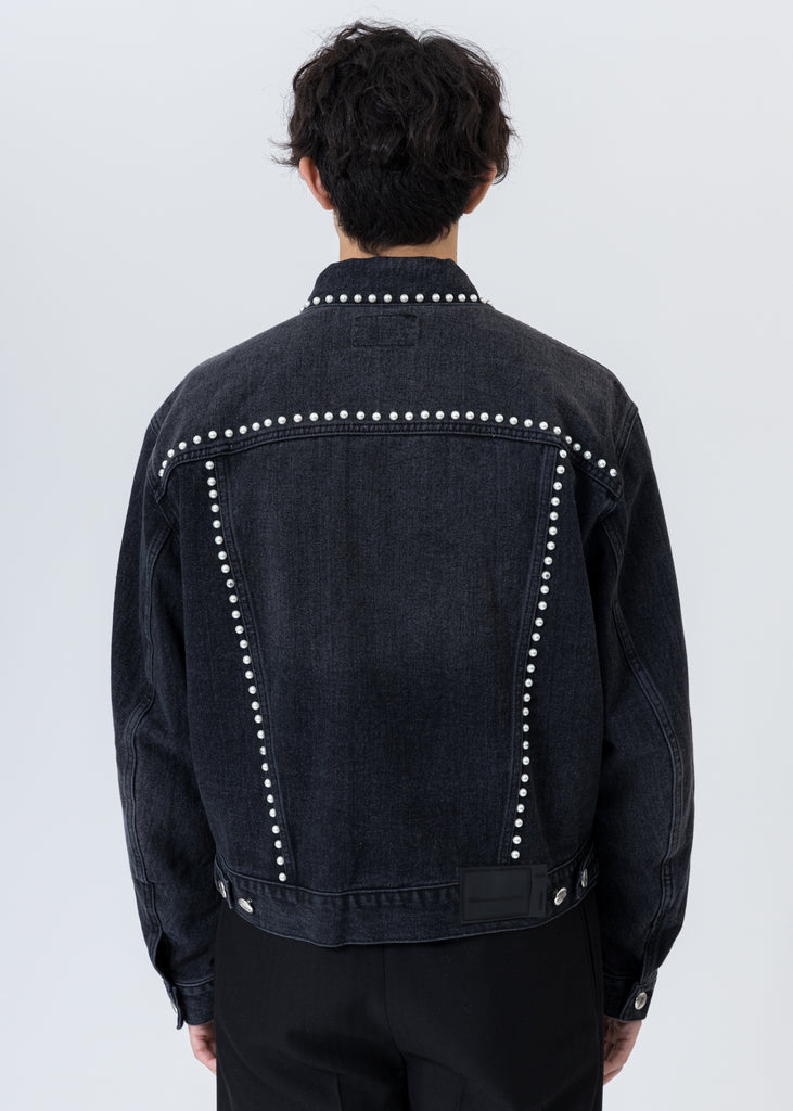 Black Pearl Lining Denim Jacket