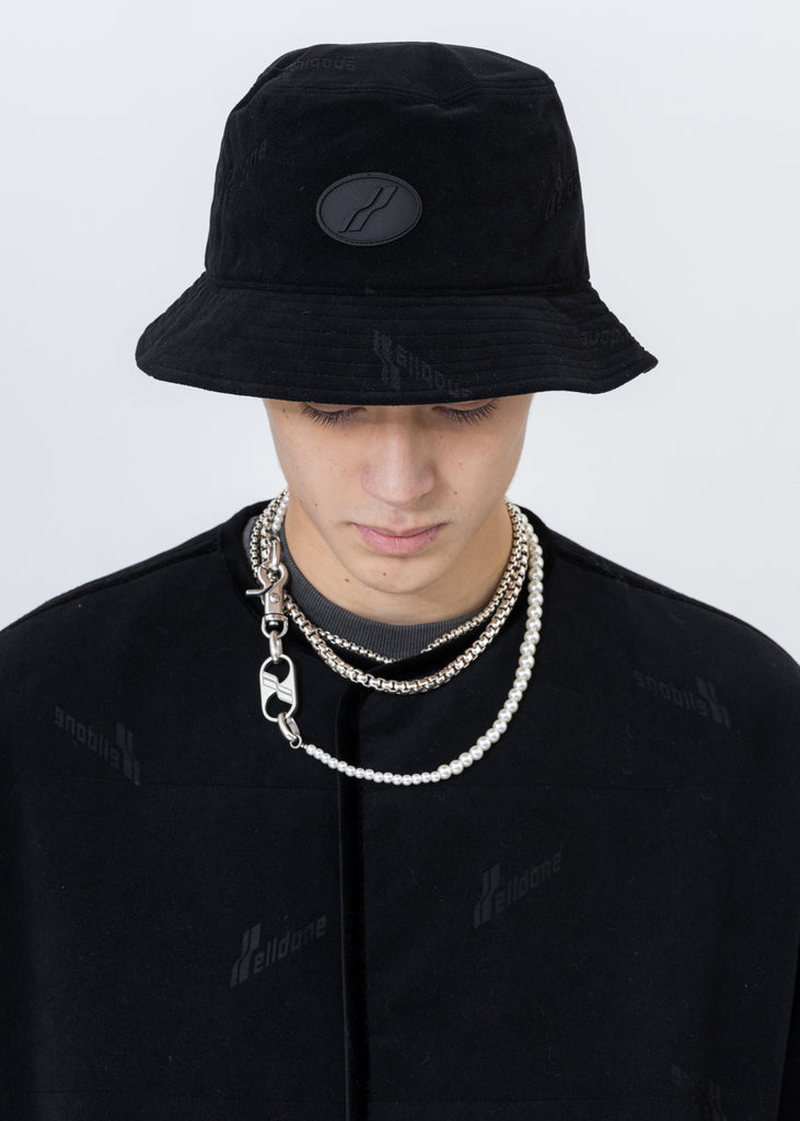 Black Velvet Logo Bucket Hat