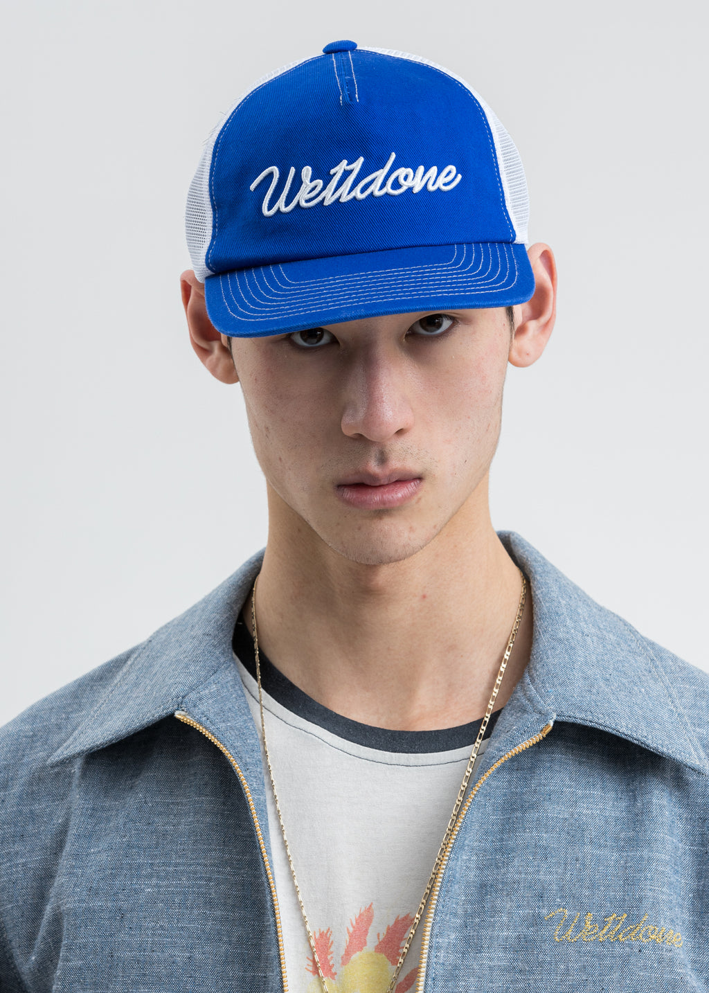 Blue Big Logo Embroidered Cap