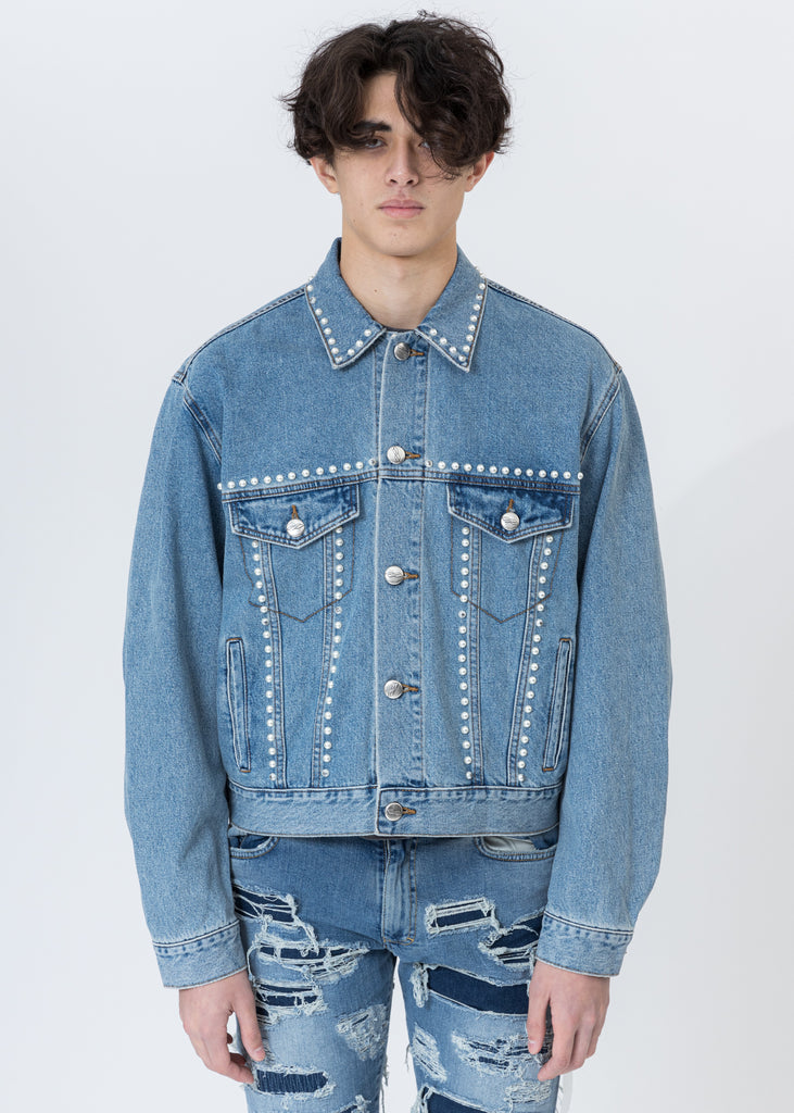 Blue Pearl Lining Denim Jacket