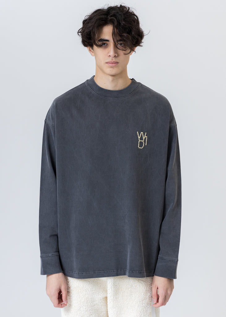 Charcoal Pearl Logo Long Sleeve