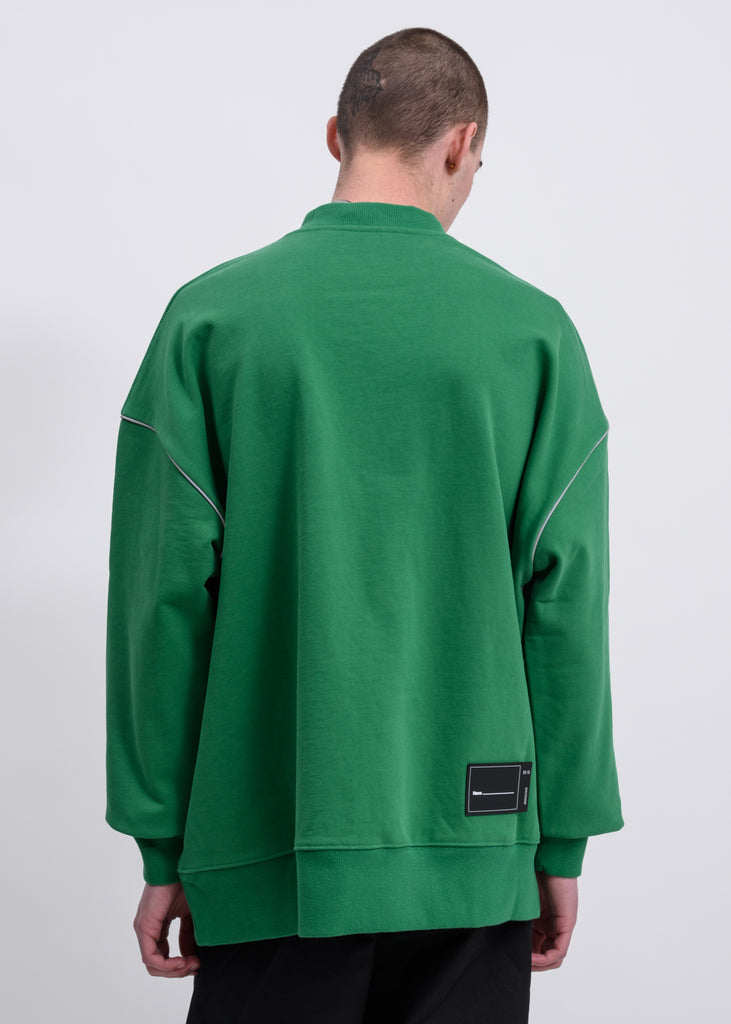 Green Reflective Logo Pullover Sweater
