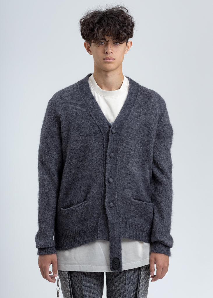 Grey Mohair Cardigan