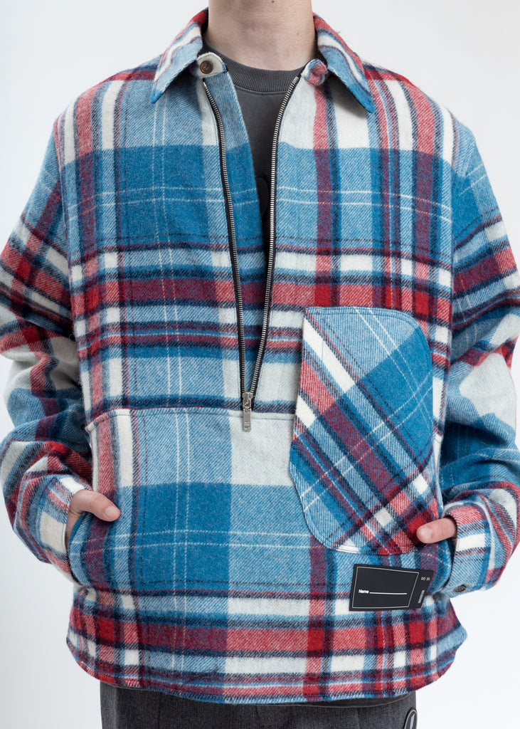 Light Blue WD English Check Anorak (Pre-Order)