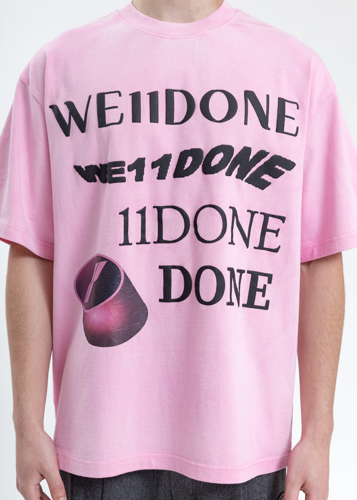 Pink Washed Logo T-Shirt
