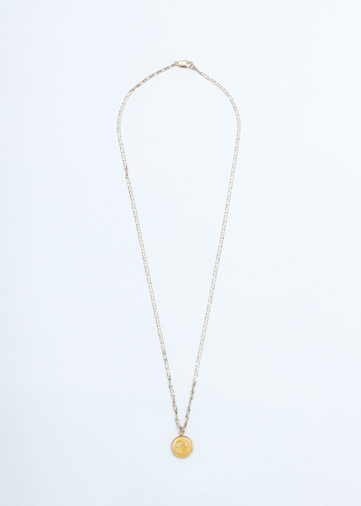 Gold We11done Smile Necklace