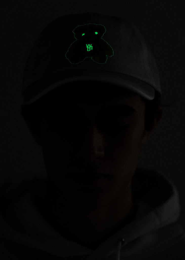 White Glow In The Dark Teddy Cap