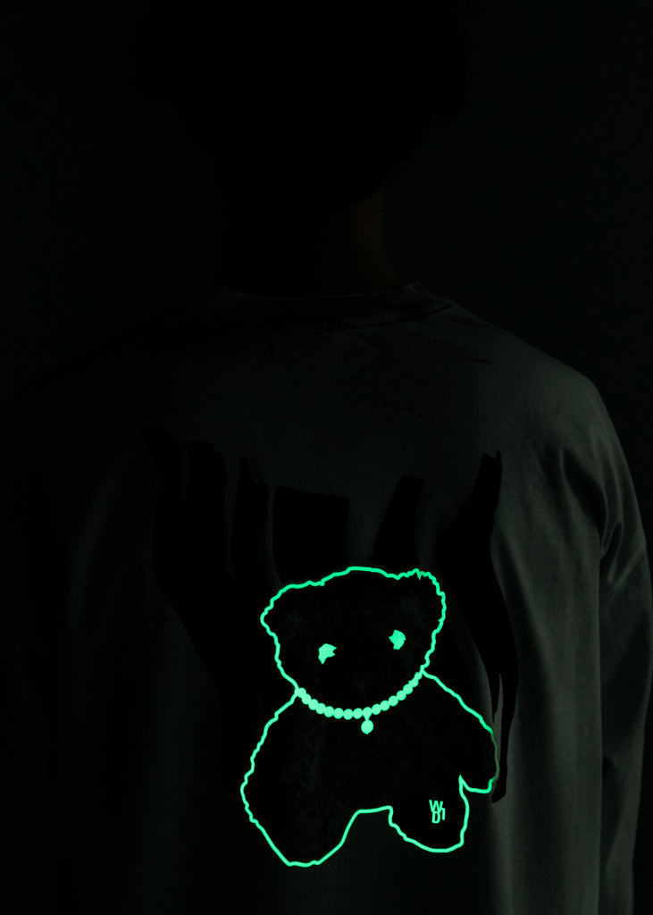 Ivory Glow In The Dark Teddy Sweater