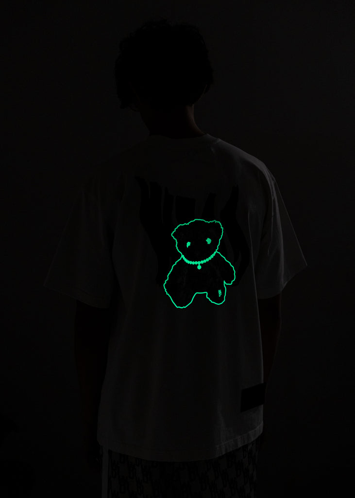 White Glow In The Dark Teddy T-Shirt