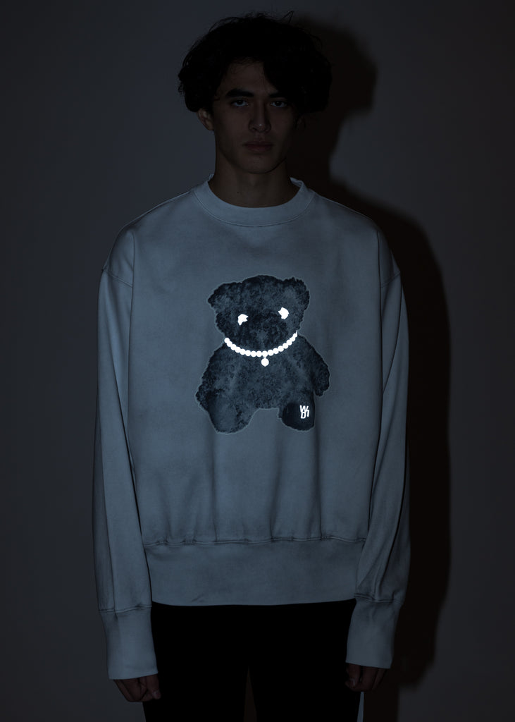 White Pearl Necklace Teddy Sweater (Reflect)